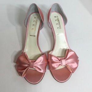 Something Bleu Bridal Ballet Pink Kitten Heel.
